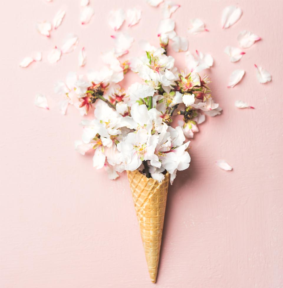 桜の花をこんな風に見立てたら、あら素敵!